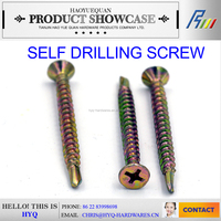 C1022 DIN 7504K reduced point hex flange self drilling screw