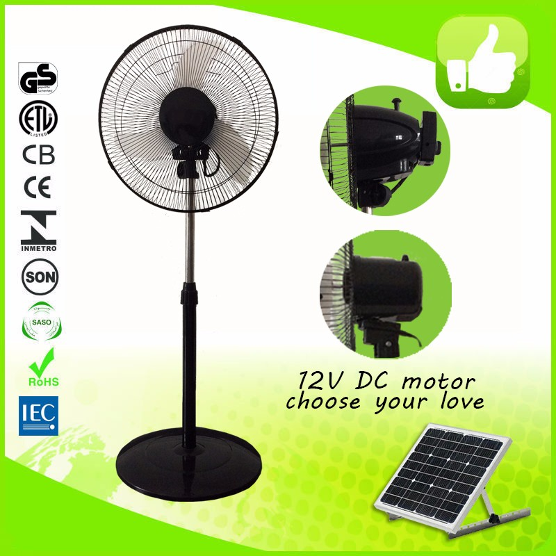 16'' 12V DC rechargeable stand fan with in-bulid battery
