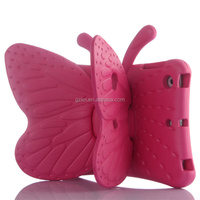 Lovely butterfly 3D animal EVA foam defender case for Apple iPad mini 2 3 with stand