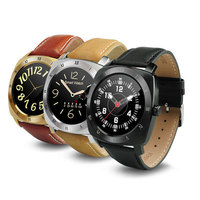 Newest Design Waterproof Leather Band Heart-Rate Detection Pedometer Smart Watch DM88
