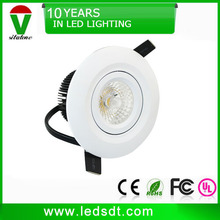 2.5 inch white adjustable 7w cob led downlight 700lm 70mm hole size