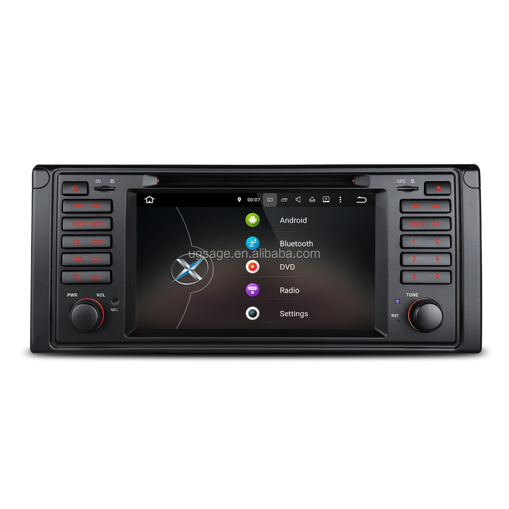"7"" HD Android 5.1 Lollipop Multi-touch Screen car dvd portable player for BMW 5 Series / X5"