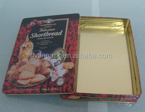 wholesale embossed blank large biscuit gift tin box metal tin packaging box for cookie