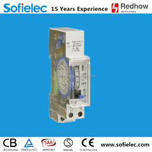 very hot sale din rail type 230v 16a 24 hourly timer