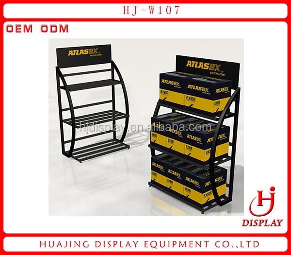 New Design Car Battery Display Rack Car Accessory Display Rack Dry Goods Display Rack