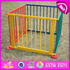 Professional wooden baby play yard children wooden fence W08H007-A3