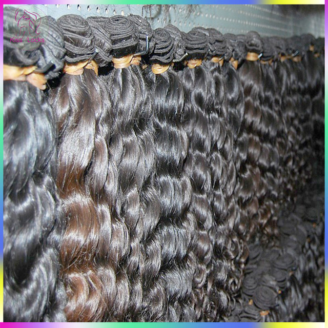 10A Unprocessed Raw Virgin Peruvian Loose Curly Human hair More Wavy Natural Brown Luster Cuticle Aligned