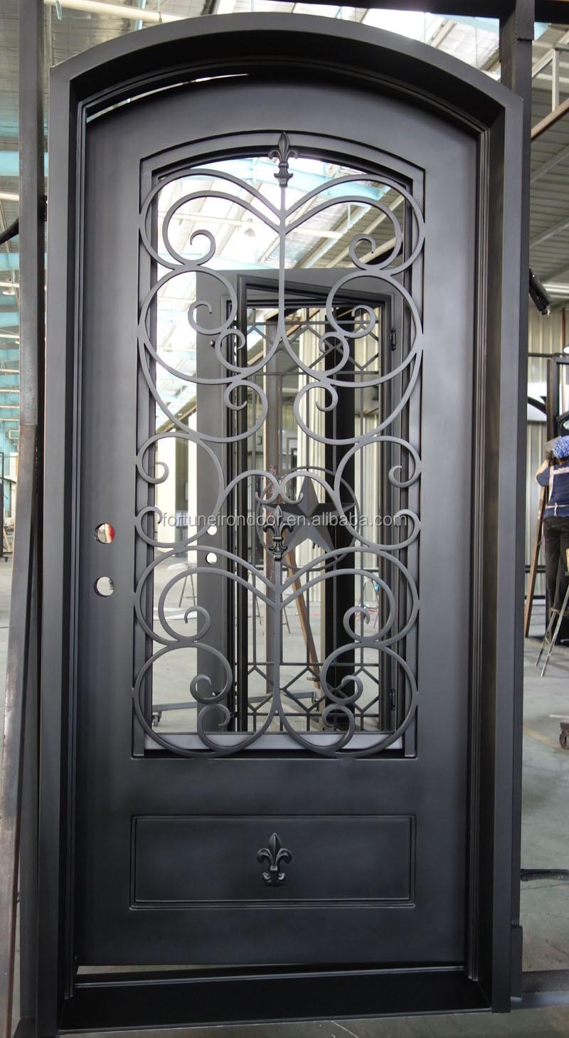 puertas de hierro forjado para exteriores materiales de