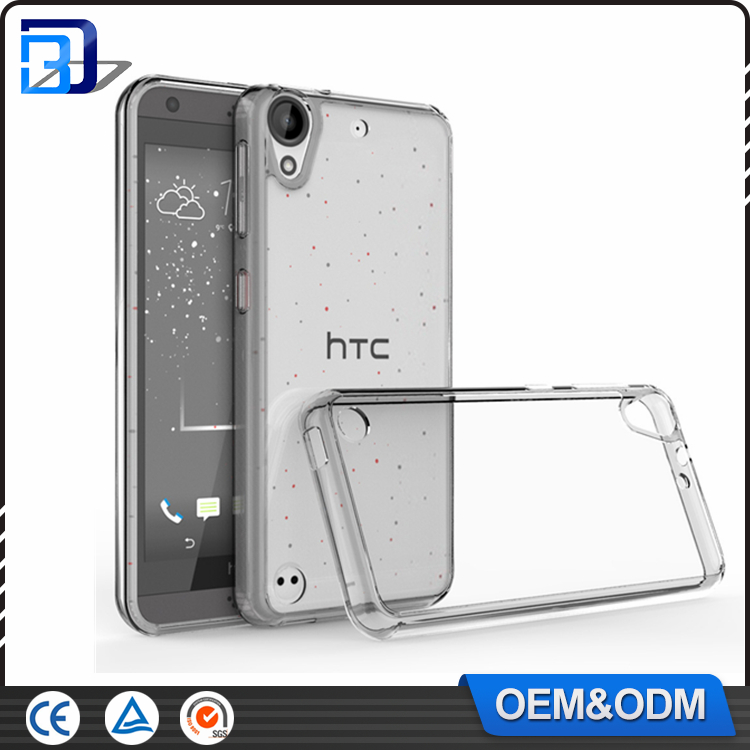 New Product 2016 Clear Ultra Slim Acrylic + TPU Bumper 2 in 1 Back Cover Case For HTC Desire 530 Mobile Phone Accessories