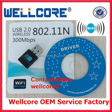 Top Sale ! High Quality 300mbps Mini Usb Wireless Wifi Network Card 802.11n/g/b Wifi Lan Adapter !