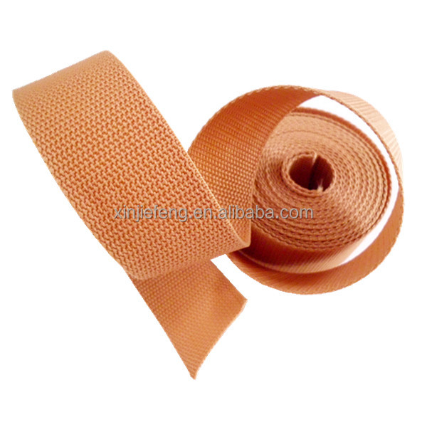 Factory cheap price brown 30mm pp webbing