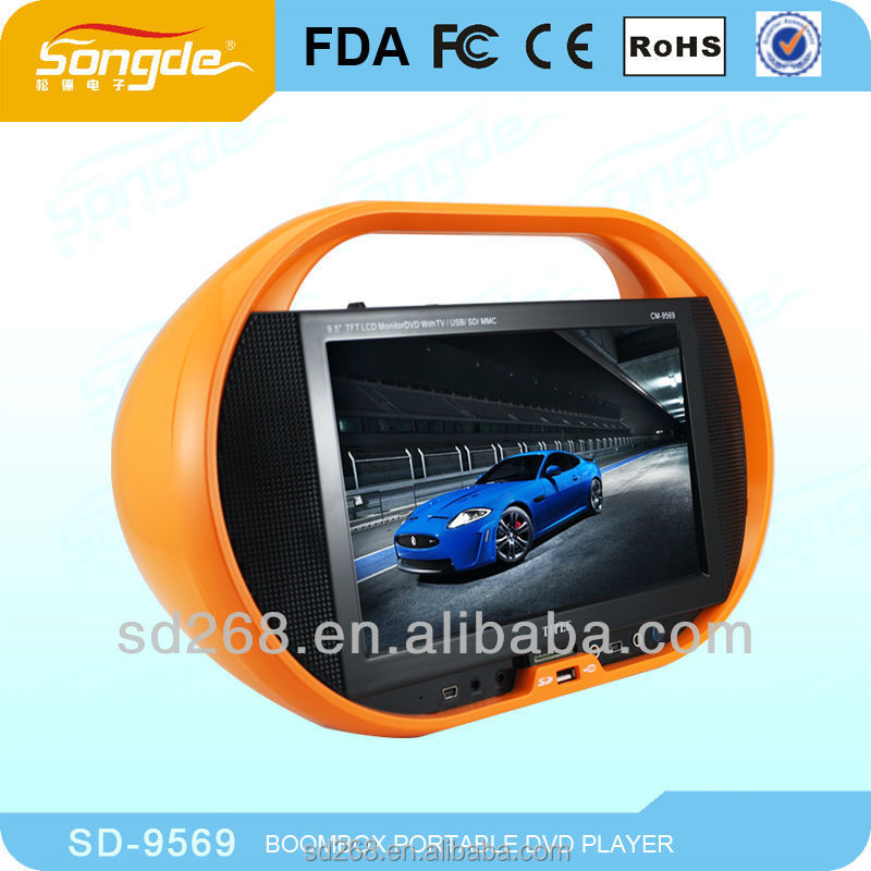 china new arrival 9'' Portable DVD with TV