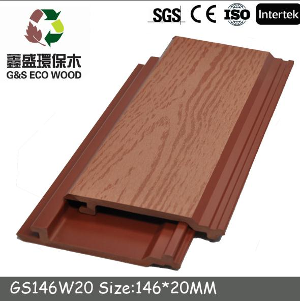 Full recycle rotproof outdoor wpc decorative wood plastic composite wall panel