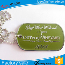 Casting Crafts Wholesale products china Souvenir Gifts silicone dog tag