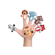 Factory Making Custom Zoo Animal Plastic Finger Puppet