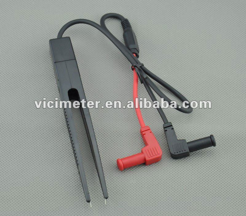 SMD tweezer test clip/ Multimeter Tweezer for Capacitor