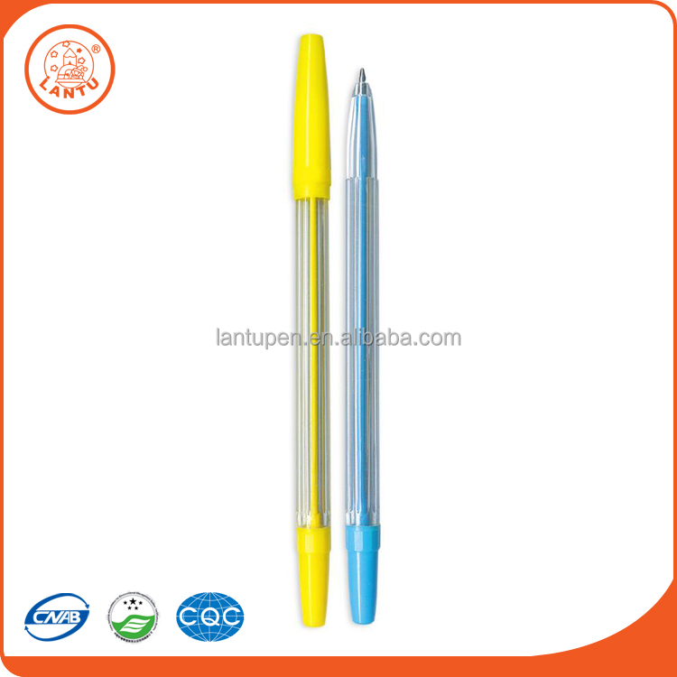 Lantu 2016 Sell Well Advertising Promotion Bule And Yellow Shell Ball Point Pens