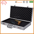 "custom-made Super buy 18.5"" Aluminum Framed Locking Gun Pistol HandGun Lock Box Hard Storage Carry Case"