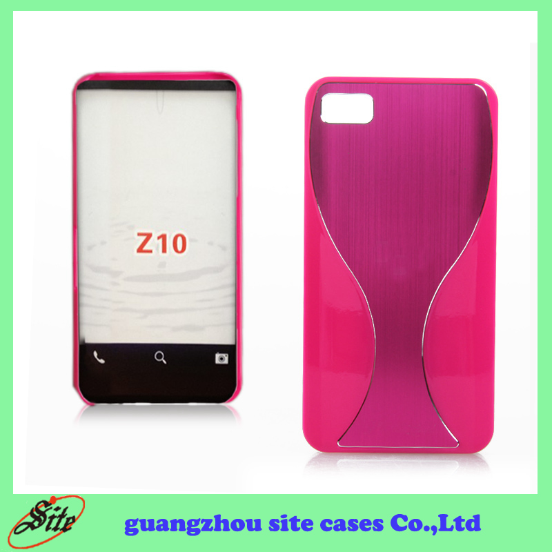 Pink Aluminum back cover case for blackberry Z10 HOT SELL IN SUPER MARKET