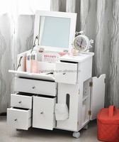 factory outlet folding Korean white Multi-functional dressing table,makeup dresser with mirror