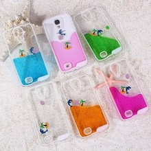 Cute Dolphin Liquid Quicksand Cover Case For Samsung Galaxy S4