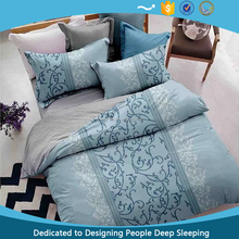 2017 New designs Printed Embroidery 90GSM Microfiber bed Cover sheet