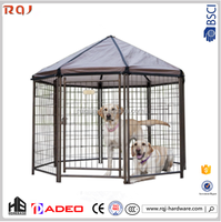 Original Metal double dog cages!Advantek Pet Gazebo Modular Outdoor Dog Kennel