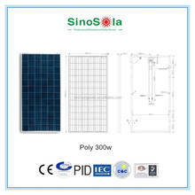 300w solar pv module poly solar panel for solar power system big power plant with TUV/PID/CEC/CQC/IEC/CE