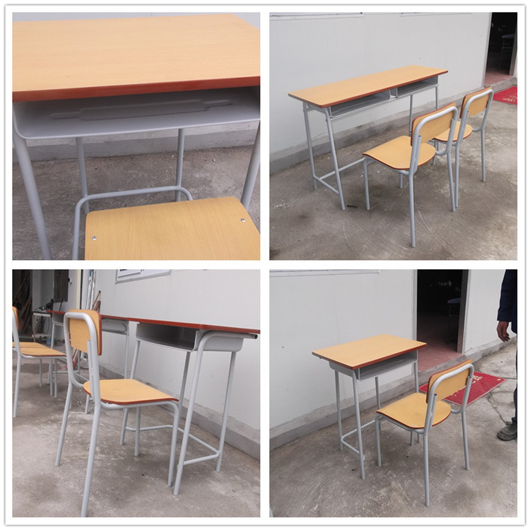 Cheap single middle school student desk and chair for Affordable furniture for college students