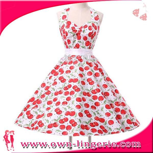 Sexy Retro Vintage 50s Polka Dot Swing Petticoat Dancing Swing Dress