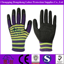 Breathable Polyester Latex anti penetration glass working gloves