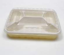 PP Cream Color Blister Food Lunch Tray