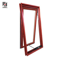 Australia standard AS/NZS2208 double glazing wood grain aluminum awning window