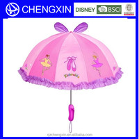 beautiful girl picture and animal gift advertising umbrella