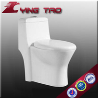 Wash down s-trap:100/200/300mm one piece toilet