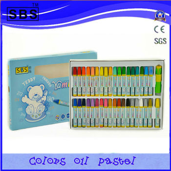 36 multi color oil pastel crayon for kids,paintings with crayons