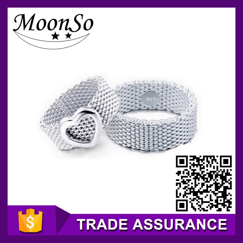 wholesale high quality MOONSO boys rings fashion young boy rings in china cheap rings for boys KR430