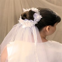 Romantic Flower Girl Wedding Veil With