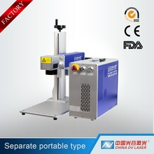20w mini portable fiber color laser marking machine for stainless steel