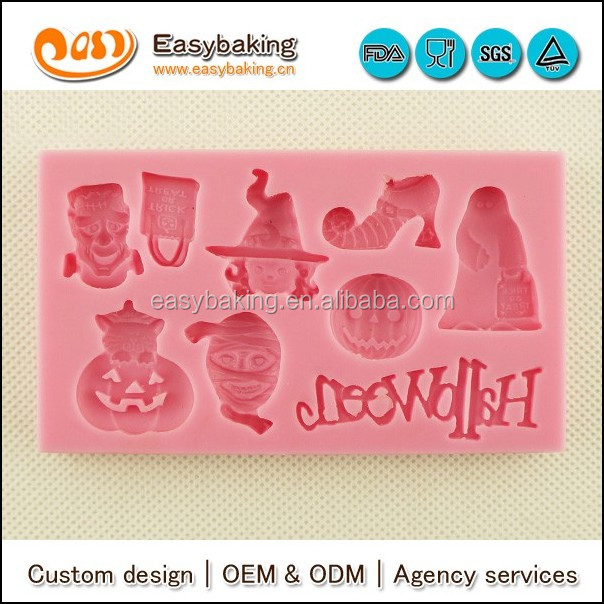 2016 new wholesale Halloween design silicone fondant chocolate mold for cake decorating