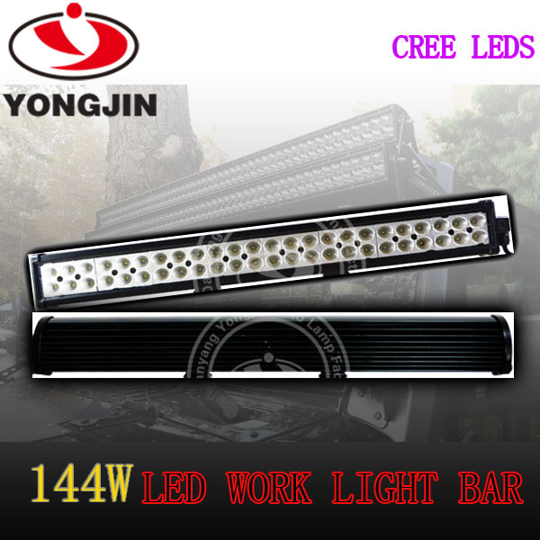 Cheap led work lamp 144w 10080lm 12v 24v tow truck led light bar for SUV/JEEP/Truck