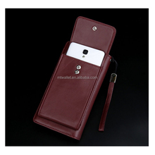 Men Genuine Leather Wallet Purse Large Capacity for Phone Custom Clutch Bag