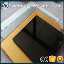 tempered table top black glass