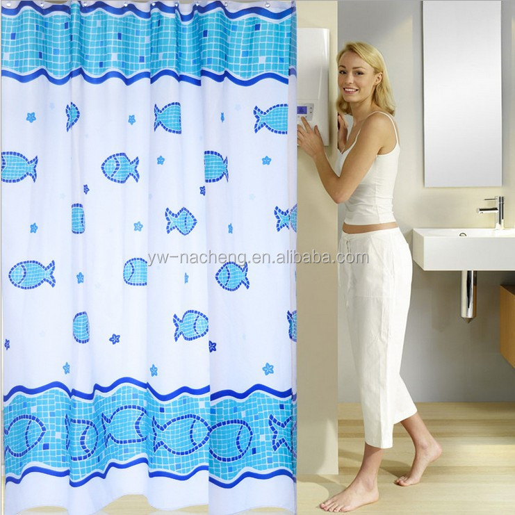 Benthic fish color changing printing shower curtain