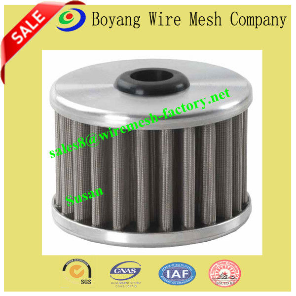 stainless steel mesh pleated filter tube (manufacturer)