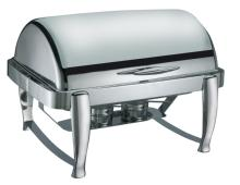 Best price & good quality rectangle roll top chafing dish/food warmer with fuel