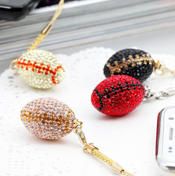 Wholesale American Rhinestone Football Sports Charms