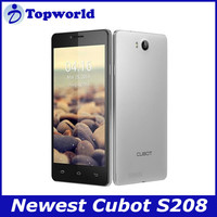 Android Phone 5.0'' 960 x 540p MTK6582 Quad Core 1GB RAM 16GB ROM Cheapest China Brand Mobile Phone Cubot S208