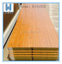 China supplier wood grain color panel aluminum galvanized steel coils roofing sheet