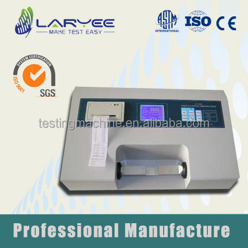 ISO Qualified Lab Capsule and Tablet Hardness Testing Instrument